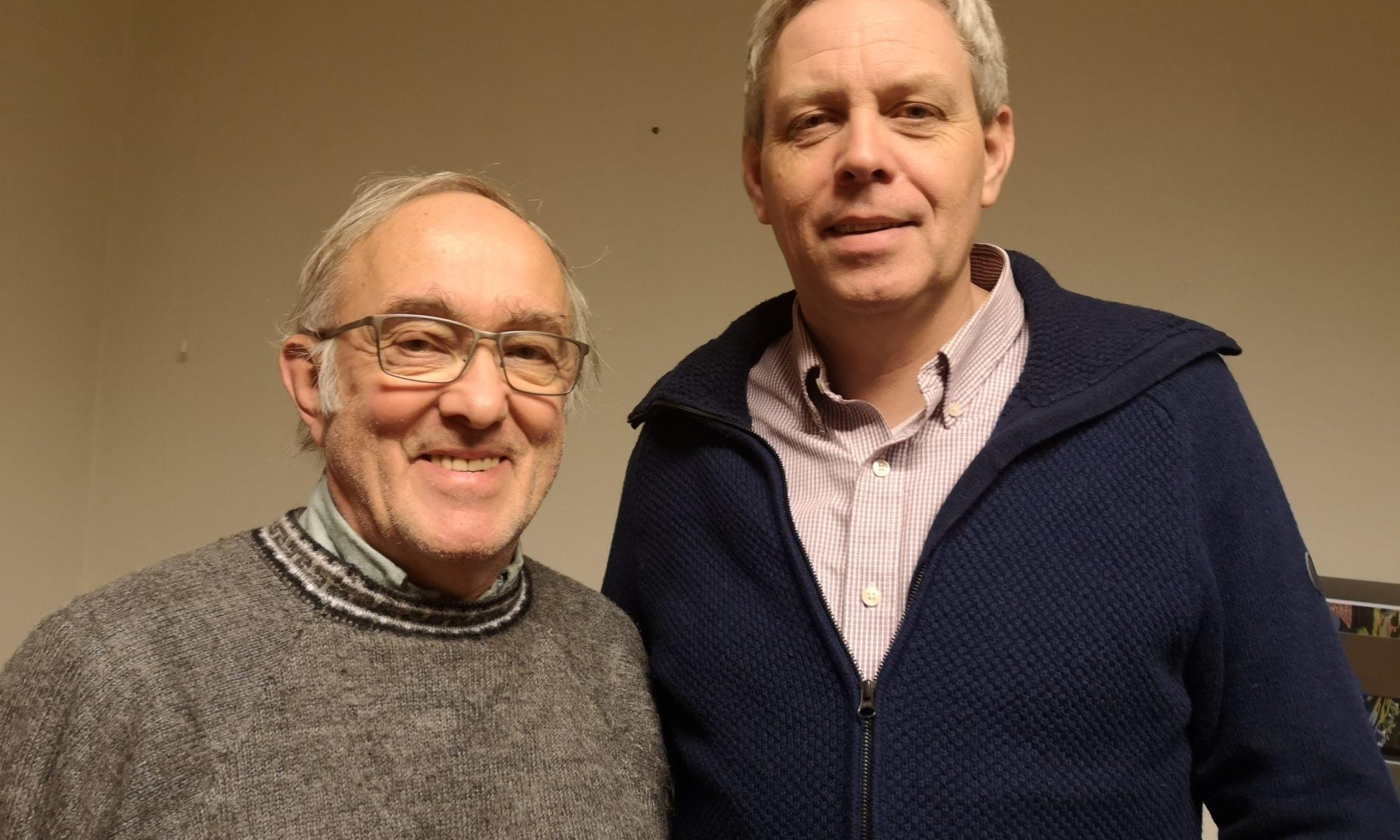 Tidligere rådgiver Øyin Vestre og ny rådgiver i FAGUS Ole-Christrian Wiig